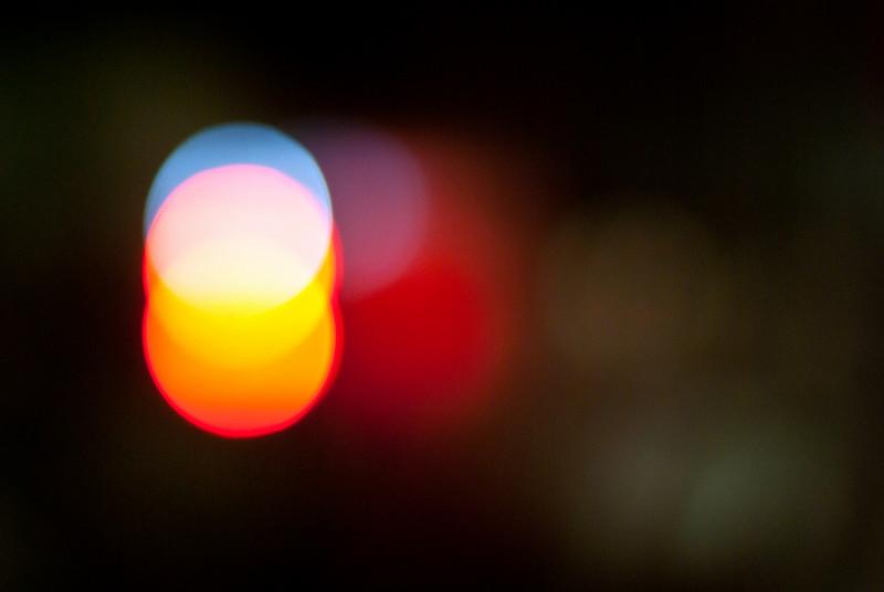 Abstract lights at Macquarie university station.