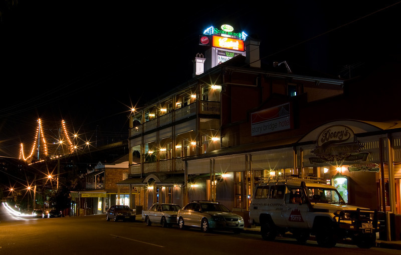 Story Bridge Hotel at Night