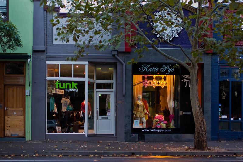 Shopfronts in Surry Hills, Sydney