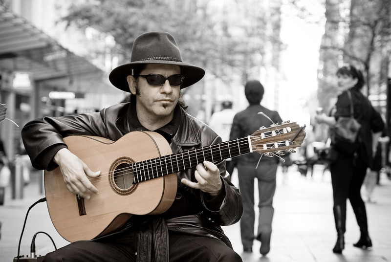 A Flamenco Guitarist in Pitt Street Mall, Sydney