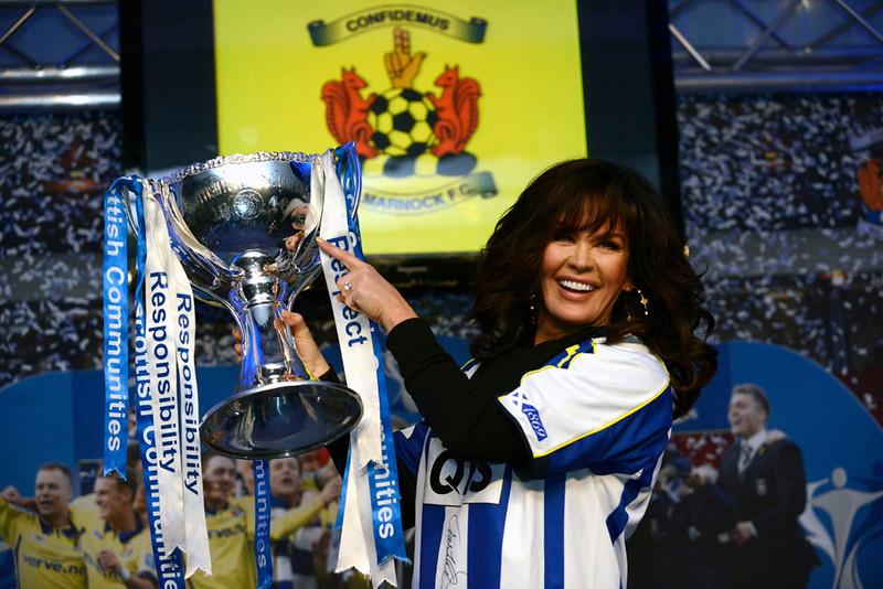 Marie Osmond at Kilmarnock FC