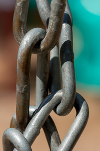Closeup of Links in a Chain