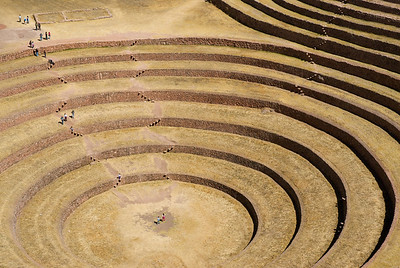 The Incan Terraces at Moray Maras, Peru