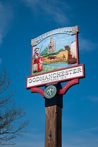 Godmanchester town sign.