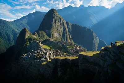 "Light hits ""The Lost City of the Incas"" Machu Picchu, Peru"