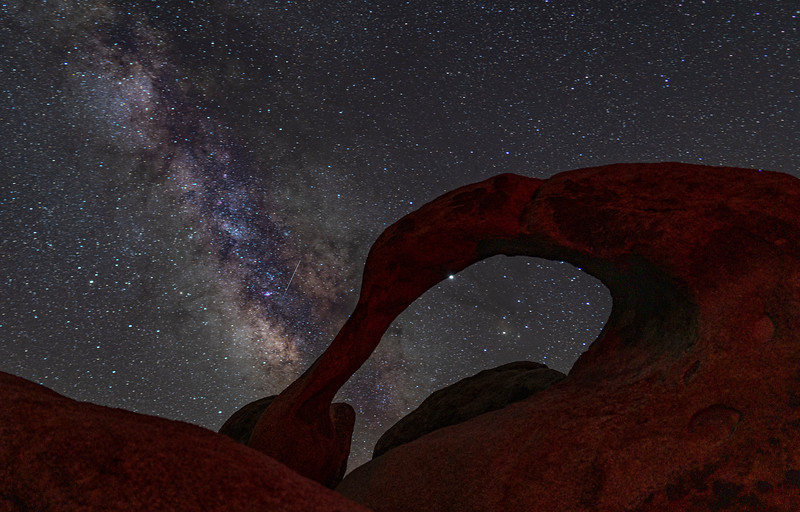 Shooting Star at the Arch Rock