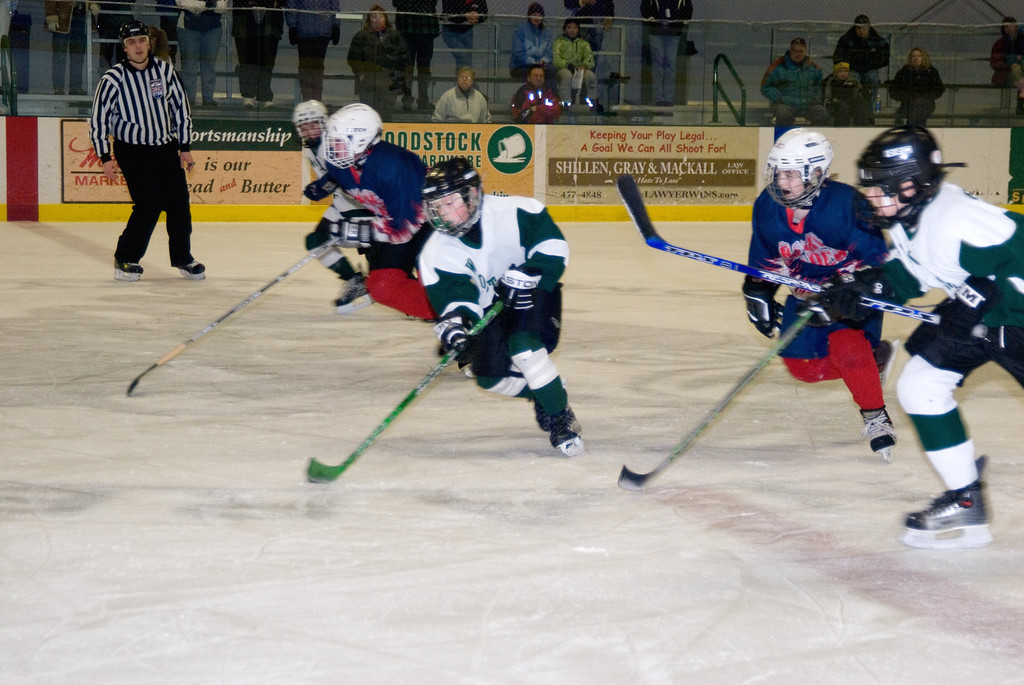 Pee Wee B Vermont State Hockey Tournament, sponsored by Union Arena and Woodstock Youth Hockey.  Woodstock v. Barre, final score 2-0 respectively.