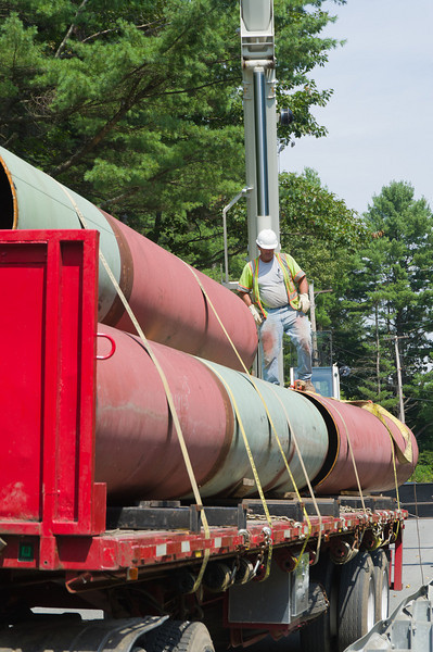 installing new penstock / headrace at John (Jay) Boeri's hydroelectric station on Lull Brook