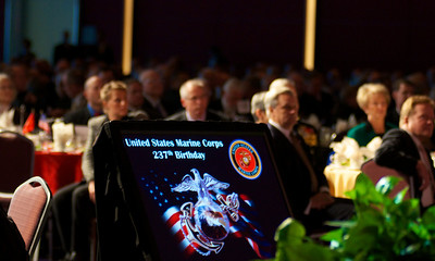 110912, Boston, MA -  The 237th birthday of the Marine Corps is celebrated at the Marine Corps Luncheon at the BCEC on Friday. Photo by Ryan Hutton