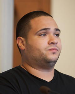 070912, Boston, MA - Rafael Vasquez, 28, of Canton faces arraignment on drug charges in Boston Municipal Court on Monday. Herald photo by Ryan Hutton
