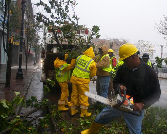 Hurricane Sandy hits Boston
