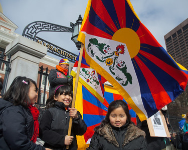 031013, Boston, MA - Several hundred activists showed up for the Tibetan National Uprising Day events at the Massachusetts statehouse and Boston Common to protest China's occupation of Tibet. Photo by Ryan Hutton