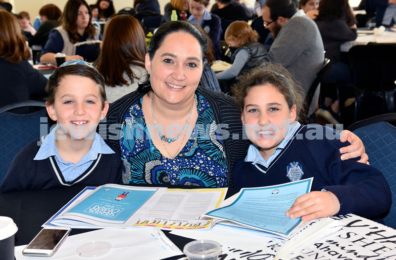 Generation Sinai held at Kesser Torah College. From left: Jordan, Beth, Jamie Jossman. Pic Noel Kessel