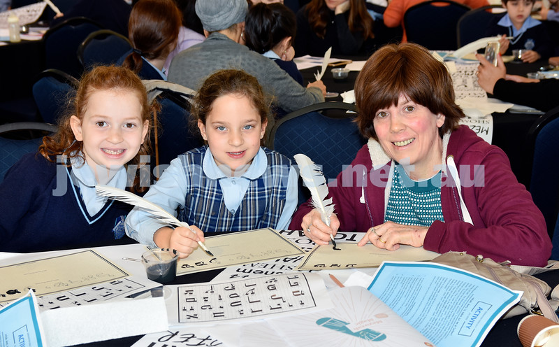 Generation Sinai held at Kesser Torah College. From left: Temima Apple, Dina Schwarz, Mrs Rochel Blasenstein. Pic Noel Kessel