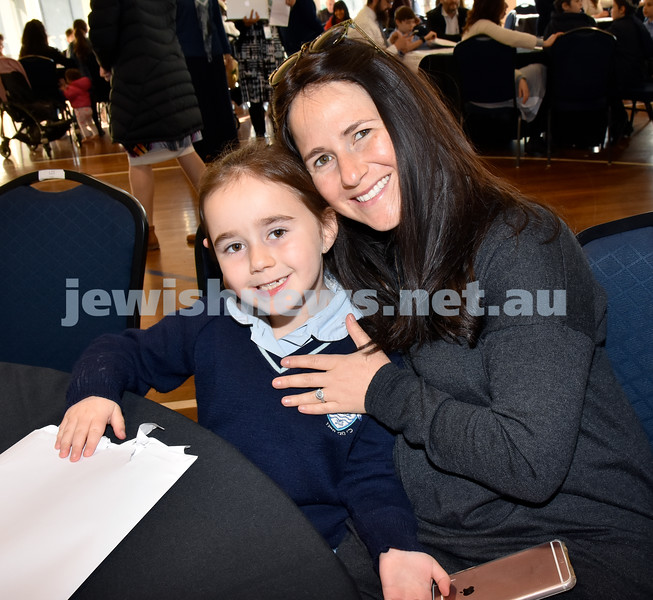 Generation Sinai held at Kesser Torah College. Chana Chaiton with her daughter Mia. Pic Noel Kessel