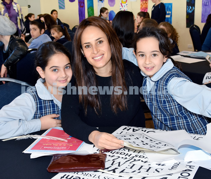 Generation Sinai held at Kesser Torah College. From left: Shira, Chana, Shaina Zaetz. Pic Noel Kessel