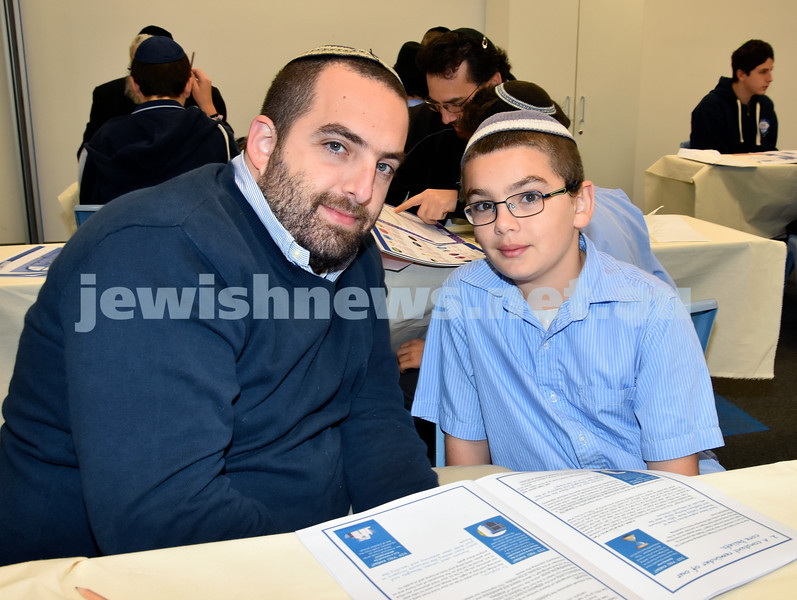 Generation Sinai held at Kesser Torah College. Tal and Amitsur Saar. Pic Noel Kessel