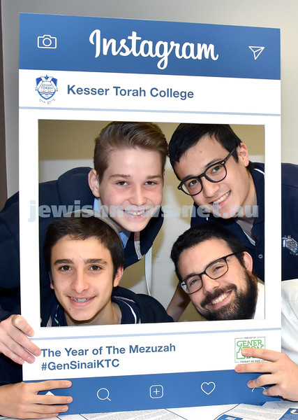 Generation Sinai held at Kesser Torah College. From left rear: Saadya Apple, Jonah Roberts, Levi Niasoff, Rabbi Berel Light. Pic Noel Kessel
