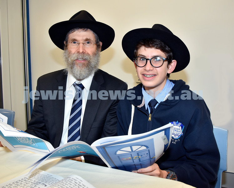 Generation Sinai held at Kesser Torah College. Dr.Harry Hirschowitz with his son Chaim Ber. Pic Noel Kessel