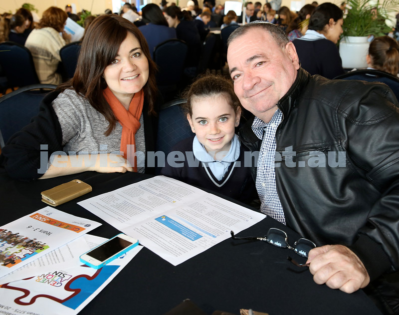 Generation Sinai learning at Kesser Torah College. Dina Lowinger with her mum Sindy and grandfather David Evian.