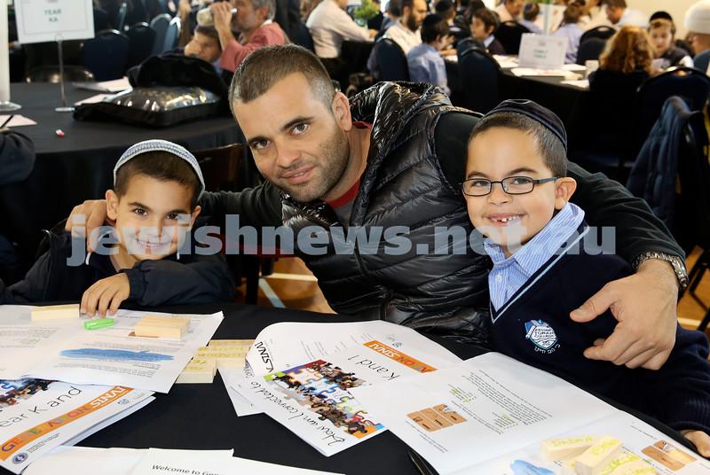 Generation Sinai learning at Kesser Torah College. Roei Avitan with his sons Eidan & Osher.