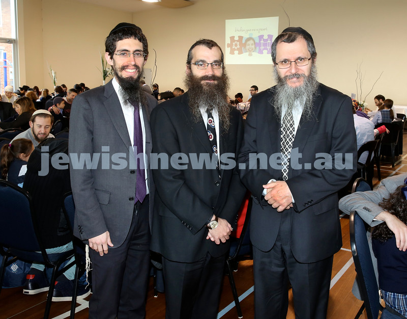 Generation Sinai learning at Kesser Torah College. Rabbi Levi Milecki, Rabbi Noteh Glogauer, Rabbi Michoel Gourarie.