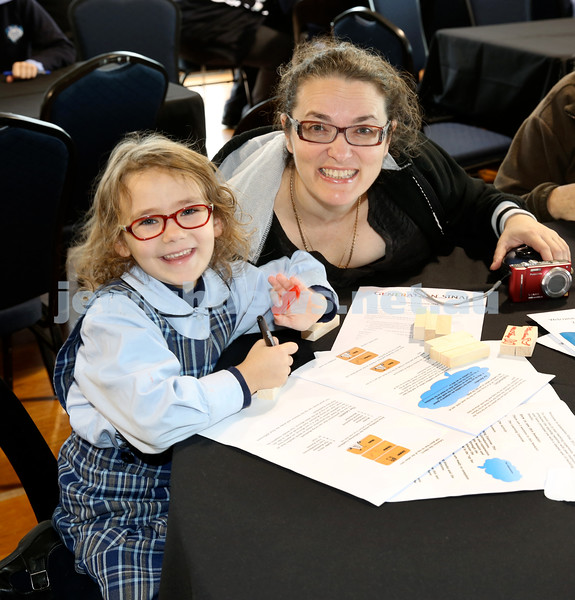 Generation Sinai learning at Kesser Torah College. Amarise Maryanka with her mum Ronit.