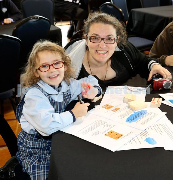 Generation Sinai learning at Kesser Torah College. Amarise Maryanka with her mum Ronit.