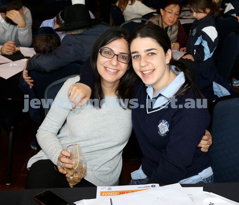Generation Sinai learning at Kesser Torah College. Lisa & Dalia Goldberg.