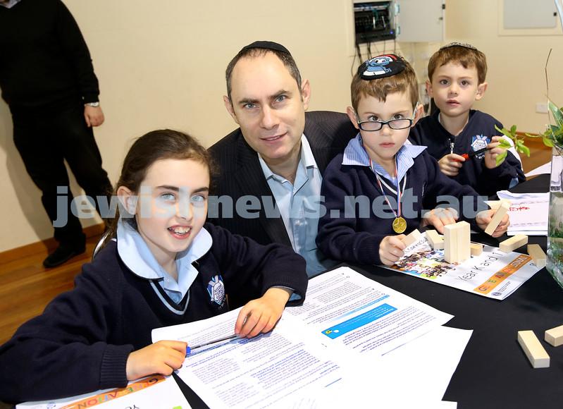 Generation Sinai learning at Kesser Torah College. Vogel Family. Kayla, Anthony, Josh, Toby.