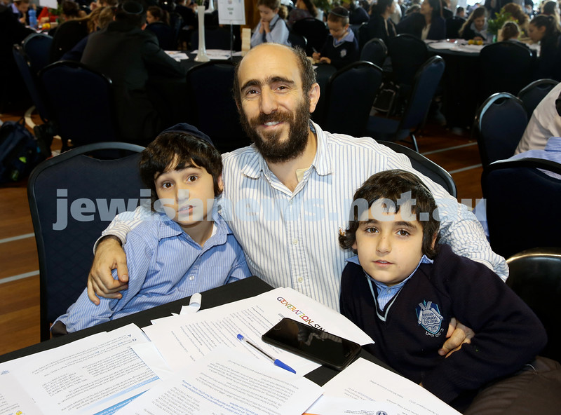 Generation Sinai learning at Kesser Torah College. Shlomo Ezekiel with his sons Yehezkel and Shemaya.