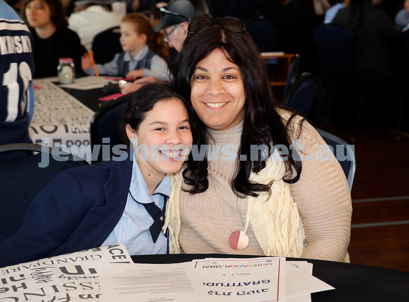Generation Sinai held at Kesser Torah College. Noa Fisher with her mum Carmit. Pic Noel Kessel.