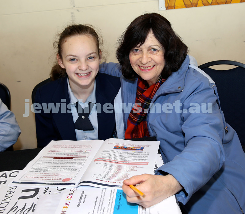 Generation Sinai held at Kesser Torah College. Shani Spielman and Sara Lieberman. Pic Noel Kessel.