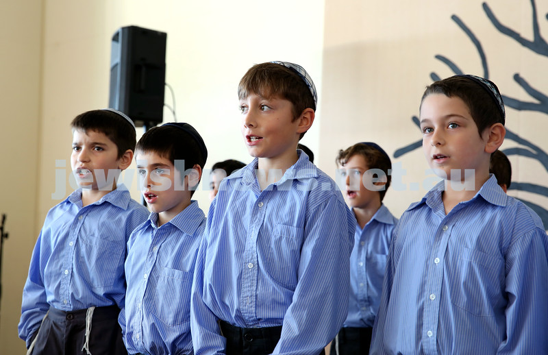 Generation Sinai held at Kesser Torah College. Primary School Boys Choir perform. Pic Noel Kessel.