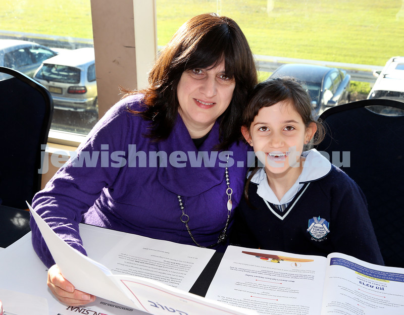Generation Sinai held at Kesser Torah College. Sally Anne Tuvel with her daughter Leah. Pic Noel Kessel.