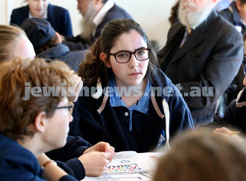 Generation Sinai held at Kesser Torah College. Chaya Gutnick. Pic Noel Kessel.