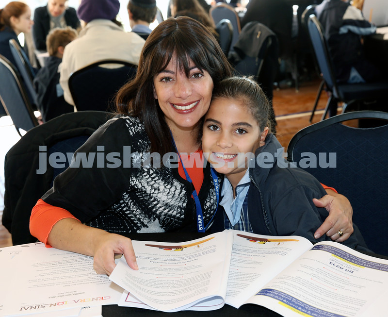 Generation Sinai held at Kesser Torah College. Brenda Butnaro with her daughter Racheli. Pic Noel Kessel.