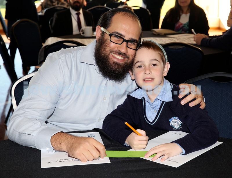 Generation Sinai held at Kesser Torah College. Avremi Joseph with his son Shmuli. Pic Noel Kessel.