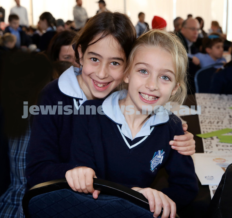 Generation Sinai held at Kesser Torah College. Rosie Kastel (left) & Sima Barber. Pic Noel Kessel.