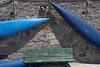 Canoes and bench,Porto Venere