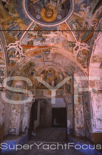 19thC Frescoes,Chilandari,Mount Athos