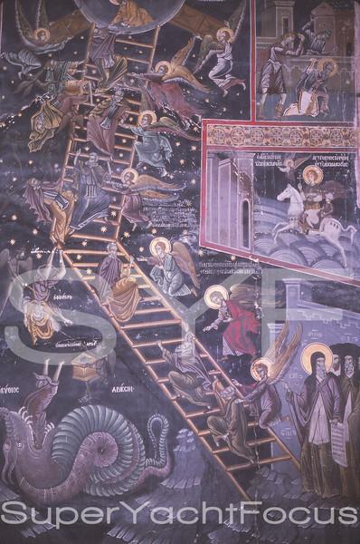 Dionysiou Mt Athos 1978 Saints ascending to Heaven  17thC