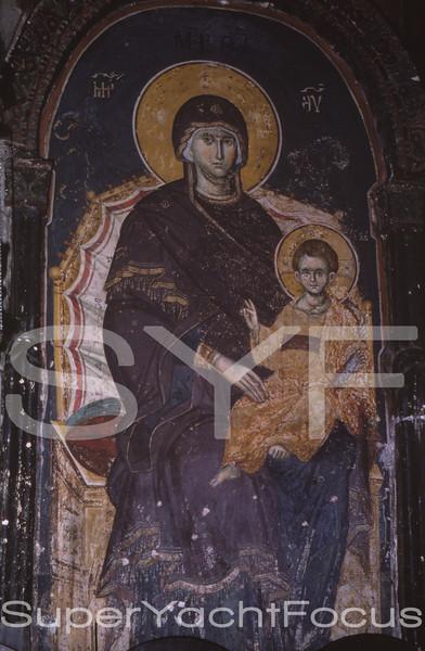 13thC fresco,Karyes,Mount Athos