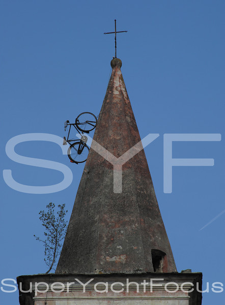 Bicycle on spire,Apricale