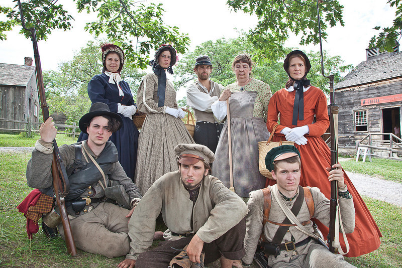 Civil War Re-Enactment at Genesee Country Villages Museum, July 18, 2010. Color image used by modern photographers.
