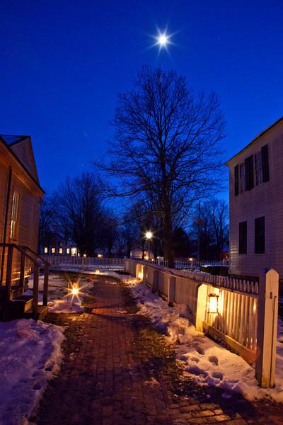 Walkway between houses in the village, HDR
