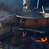 Turkey cooking slowly.