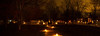 Lamps all over town square for Yuletide, Panorama