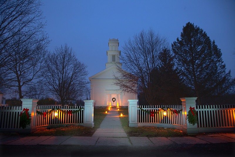 Brooks Grove Methodist Church, Light Painted and HDR