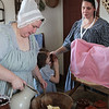 Making butter the old fashioned way. 2009